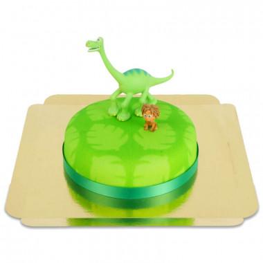 Arlo und Spot auf Dinosaurier-Torte