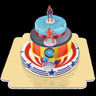 Avengers auf 3-stöckiger Superhelden-Torte