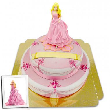 Barbie auf 2-stöckiger Bühnentorte