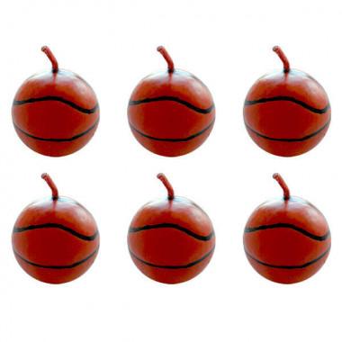 Basketball Tortenkerzen (6 Stück)
