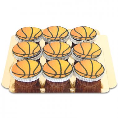 Basketball-Cupcakes, 9 Stück