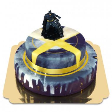 Batman auf zweistöckiger Großstadt-Torte