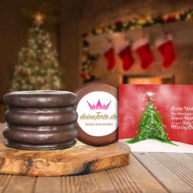 300g Logo Baumkuchen mit Weihnachtskarte