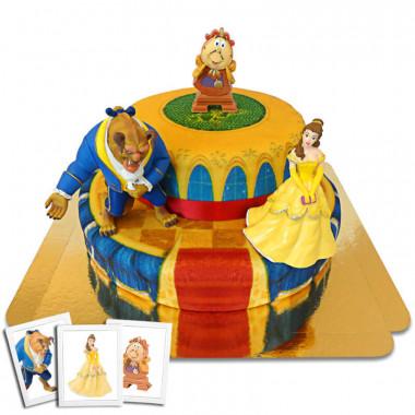 Die Schöne Belle und das Biest auf 2-stöckiger Palast-Halle-torte