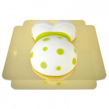 Babybauch-Torte mit grünem Band