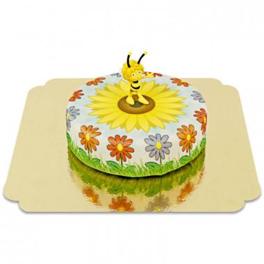 Biene Maja auf Sonnenblumen-Torte