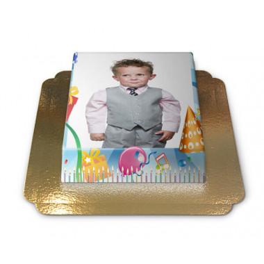 Fototorte im Geburtstags-Design