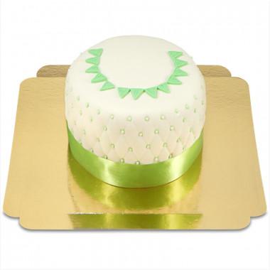 Happy Birthday Deluxe Torte - GRÜN - Doppelte Höhe