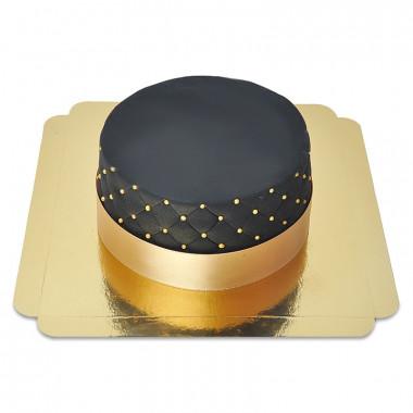 Schwarze Deluxe Torte - doppelte Höhe
