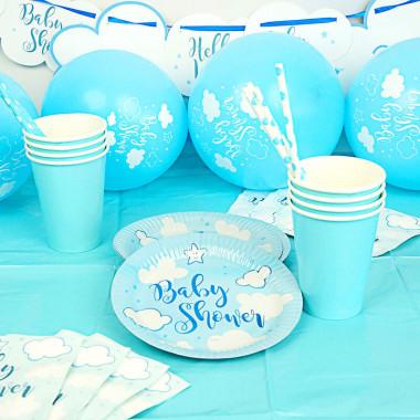 """Partyset """"Babyshower Blau"""""""