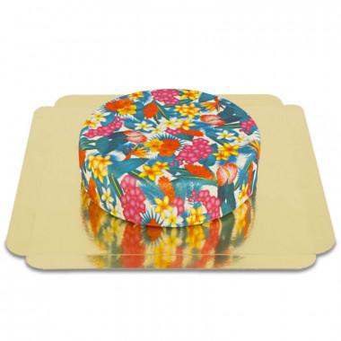 Blaue Tropenblumen-Torte