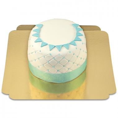 Happy Birthday Deluxe Torte - BLAU - Doppelte Höhe
