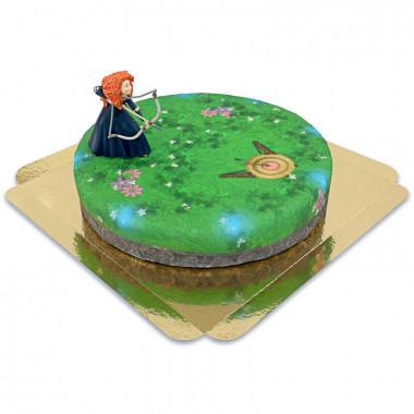 Merida-Figur auf Zielscheiben-Torte