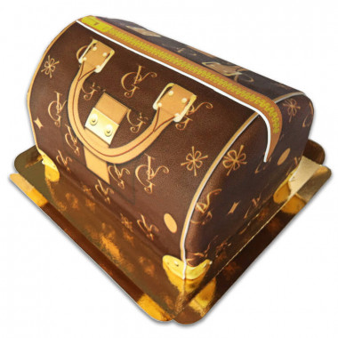 Handtaschen-Torte VG, braun mit beigen Details