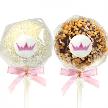12 Cake-Pops mit Logo, Hasel- und Kokosnuss