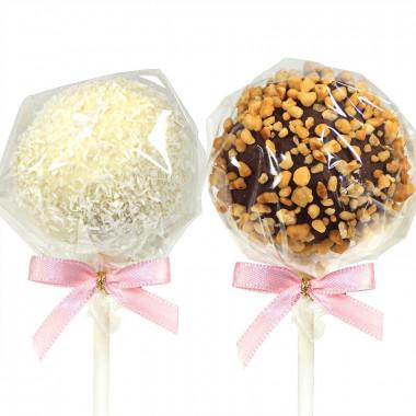 Cake-Pops Hasel- und Kokosnuss (12 Stück)