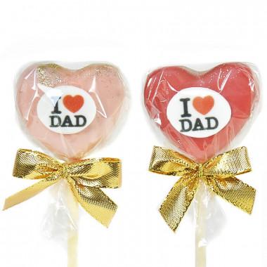 """I Love Dad"" Cake-Pops"