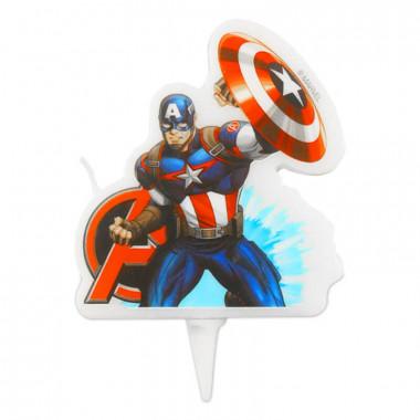 Captain America-Tortenkerze