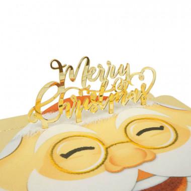 Cake Topper Merry Christmas