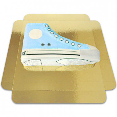 Blaue Sneaker-Torte
