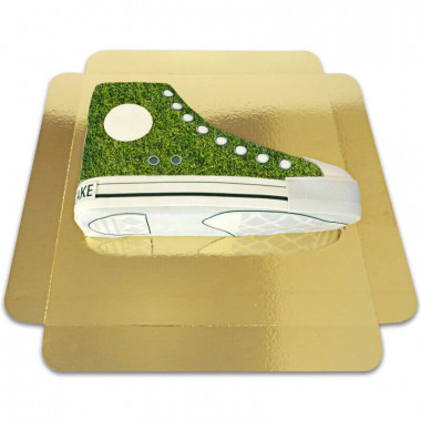 Gras-Muster Sneaker-Torte