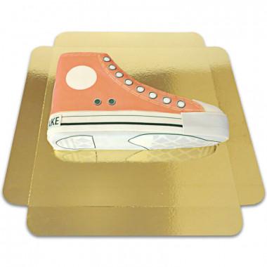 Orange Sneaker-Torte
