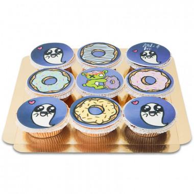 Zonbi und Boo Cupcakes, 9 Stück