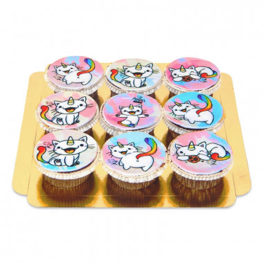Purricorn Cupcakes, 9 Stück