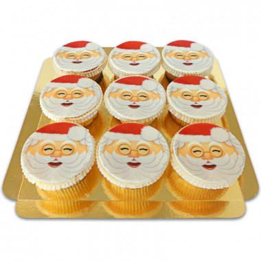 Weihnachtsmann-Cupcakes, 9 Stück