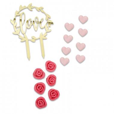 Dekoset Valentinstag, rosa