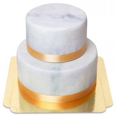 2-stöckige Deluxe-Marmormuster-Torte