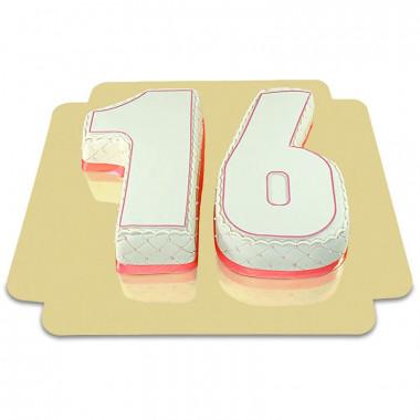 Doppelte Deluxe Zahlen-Torte, verschiedene Farben