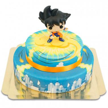 Son Goku auf 2-stöckiger Jindujun über Stadt-Torte