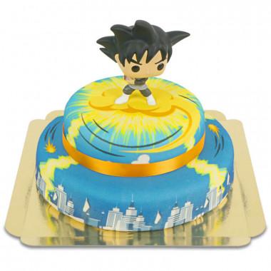 Goku Black auf 2-stöckiger Nimbus über Stadt-Torte