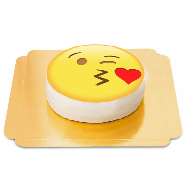 Küssendes Emoji-Torte