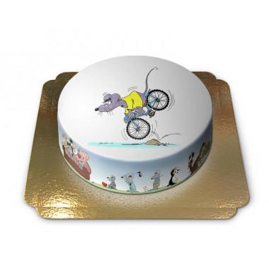 Die Fahrrad fahrende Maus