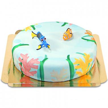 Dorie und Nemo auf Meereswelt-Torte