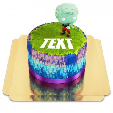 Fortnite-Figur auf Torte