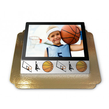 Fototorte im Basketball-Design