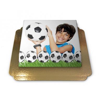 Fototorte im Fußball-Design