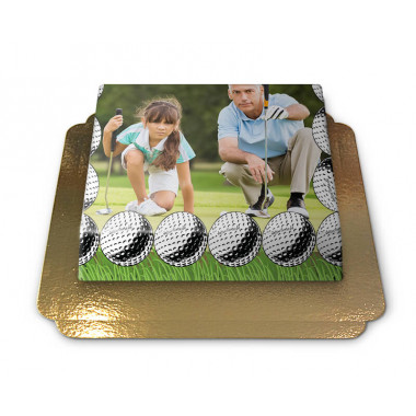 Fototorte im Golf-Design