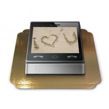 Fototorte im Smartphone Design
