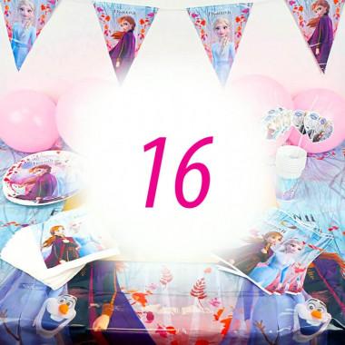 Eiskönigin Partyset Frozen für 16 Personen - ohne Torte