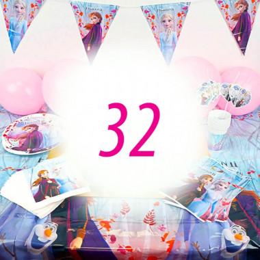 Eiskönigin Partyset Frozen für 32 Personen - ohne Torte