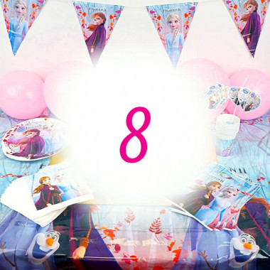 Eiskönigin Partyset Frozen für 8 Personen - ohne Torte