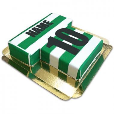 Fußballtrikot-Torte, horizontale Streifen - verschiedene Farben