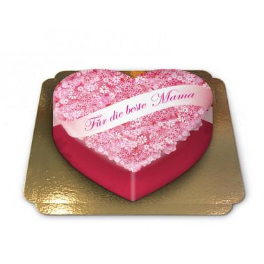 Für die beste Mama-Torte in Herzform