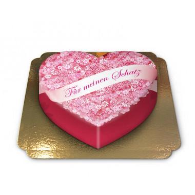 Für meinen Schatz-Torte in Herzform