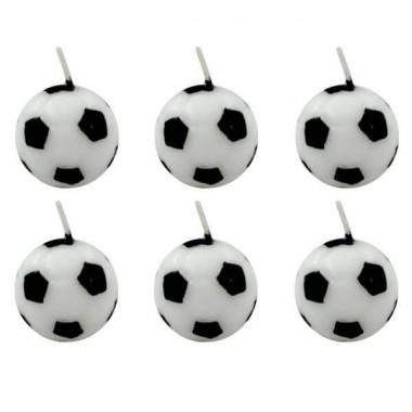 Fußball Tortenkerzen (6 Stück)