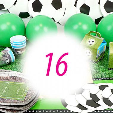 Partyset Fussball für 16 Personen - ohne Torte